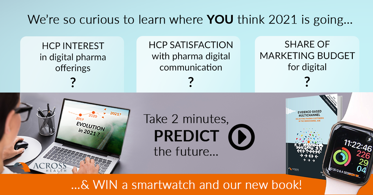 Participate in our mini-survey on HCP customer engagement in 2021 and learn what your peers think!
